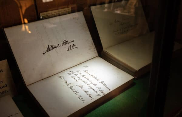 Book signed by President Millard Fillmore at his home in East Aurora New York