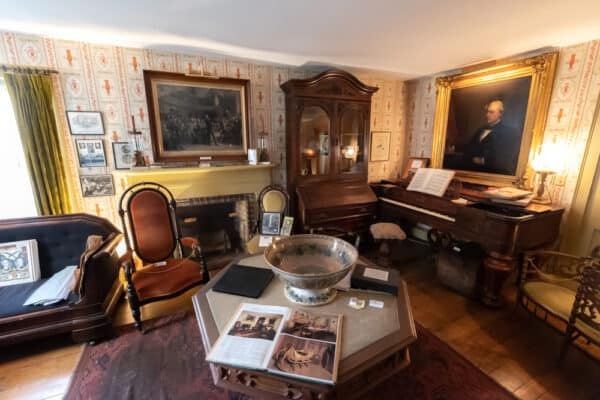 Artifacts inside the Millard Fillmore House in Erie County New York