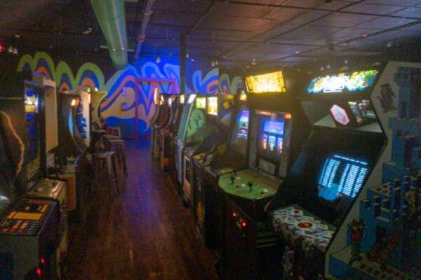 Inside the Robot City Arcade in Binghamton NY