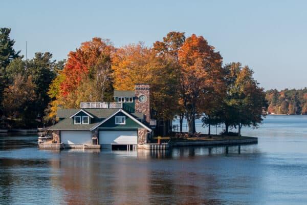 Island home in the St Lawrence River near Alexandria Bay NY