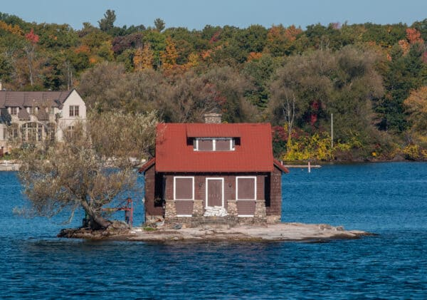 Just Enough Room Island in Alexandria Bay NY