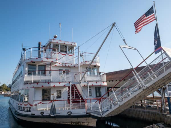 My three-decker boat with Uncle Sam Boat Tours in Alexandria Bay, New York