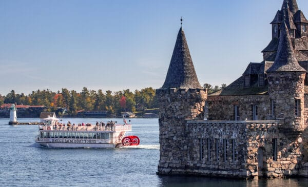 Uncle Sam Boat Tours in the St Lawrence River near Boldt Castle