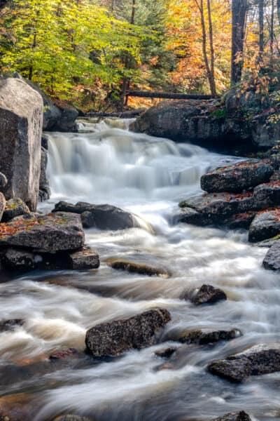 Whiskey Brook Falls in the Adirondacks