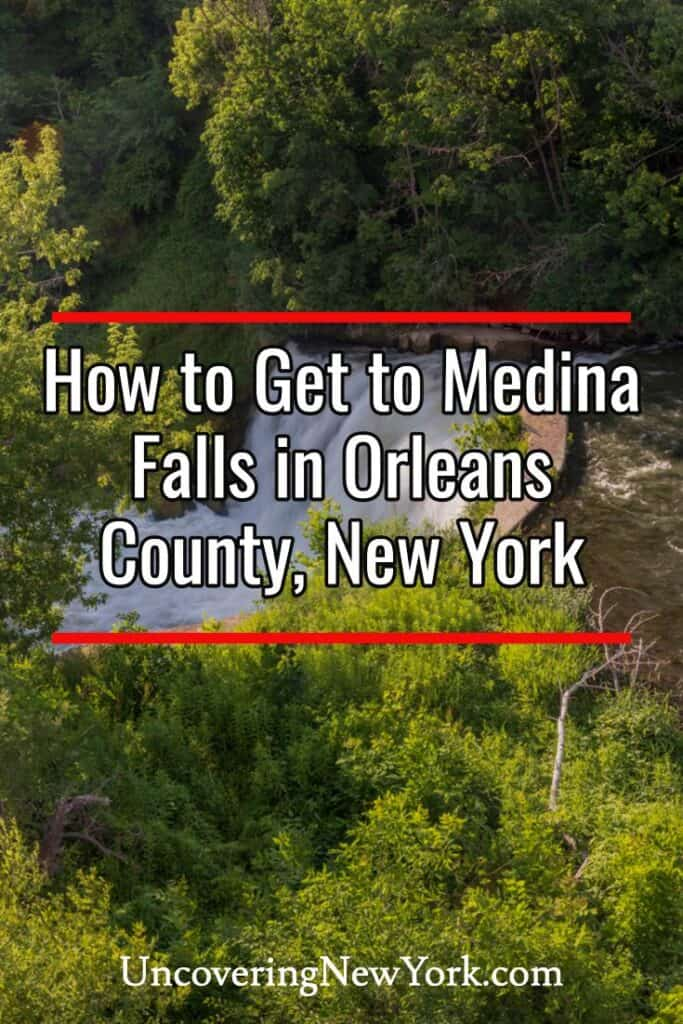 Medina Falls in Orleans County, New York