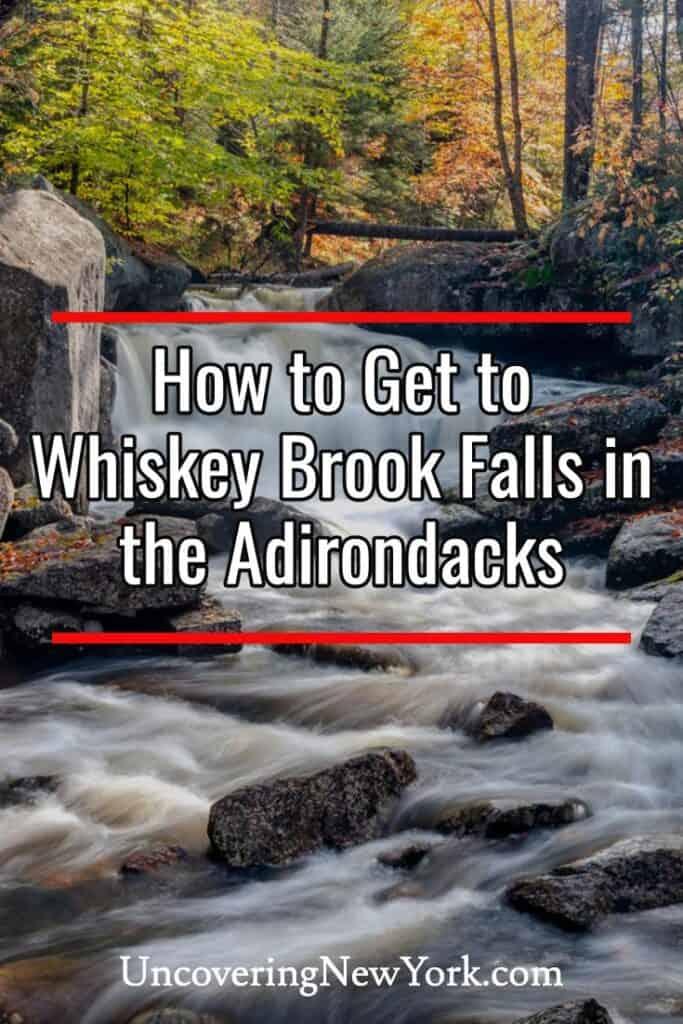 Whiskey Brook Falls in Speculator New York