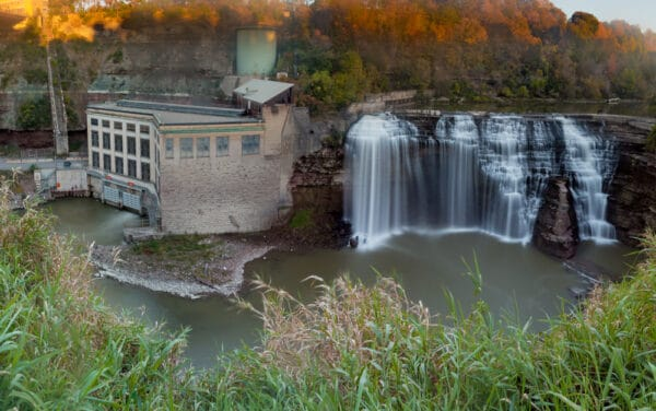 Lower Falls from Lower Falls Park in Rochester New York
