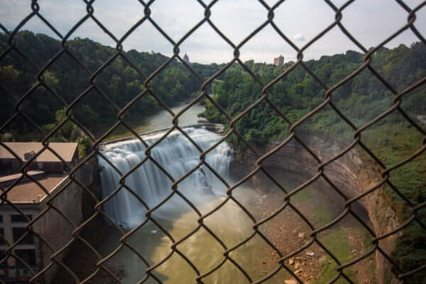 Lower Falls from Driving Park Avenue Bridge in Rochester NY