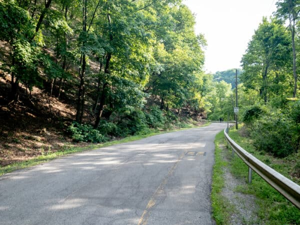 Trail to the base of Lower Falls in the Finger Lakes