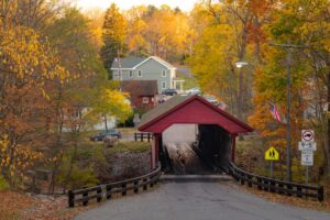 How to Get to Newfield Covered Bridge Near Ithaca, New York