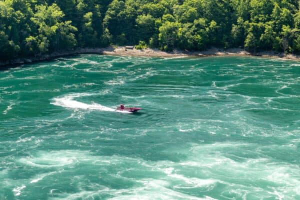 Niagara River Jet Boat in the Niagara Whirlpool
