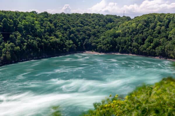 Looking out over the Niagara Whirlpool in Whirlpool State Park in New York