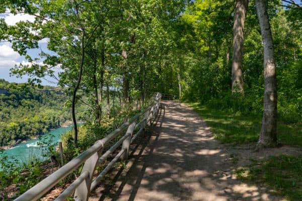 The Niagara Gorge Rim Trail in Whirlpool State Park.