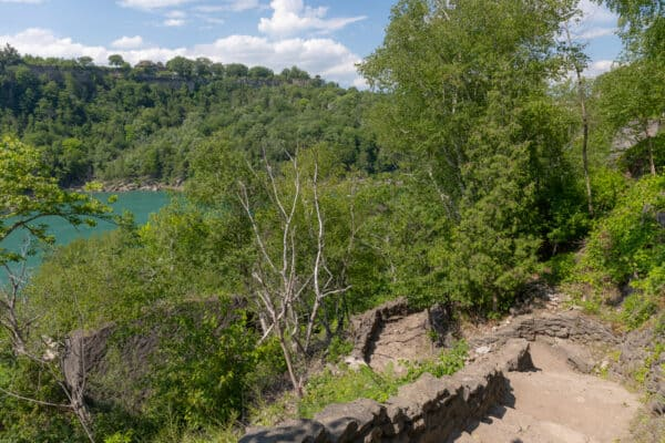 Stone Stairs along the Whirlpool Trail in Whirlpool State Park in New York