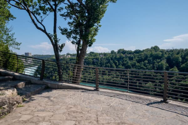 The overlook in Whirpool State Park in Niagara Falls New York