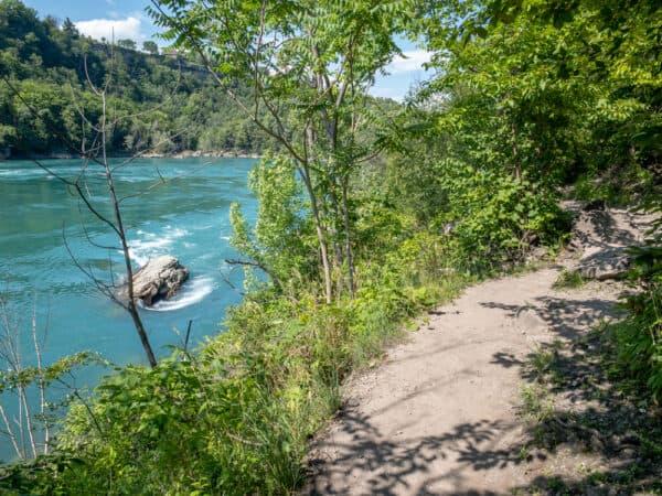 Whirlpool Trail in Whirlpool State Park in Niagara Falls New York