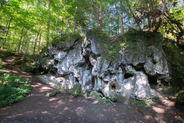 Limestone Caves at the Robert Woodruff Nature Center in Van Hornesville New York